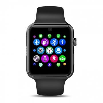 Intelligent Bluetooth Watch intelligent Wear wristband fashion trend Step Heart rate Watch black one size