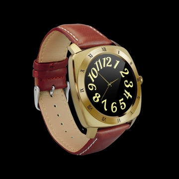High end waterproof Touch screen Heart rate monitor Bluetooth movement Step intelligent wristband gold one size