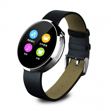 Bluetooth Intelligent Watch Heart Rate Full Circle Screen Waterproof Outdoor Step Wristband silver one size