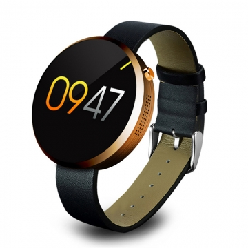Bluetooth Intelligent Watch Heart Rate Full Circle Screen Waterproof Outdoor Step Wristband gold one size