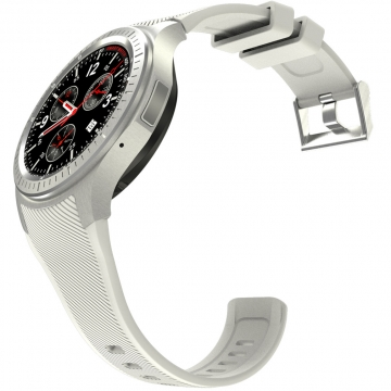 Intelligent Watch Full Circle Screen Andrews IOS General   WIFI GPS 4G Call Heart Rate Monitoring white one size
