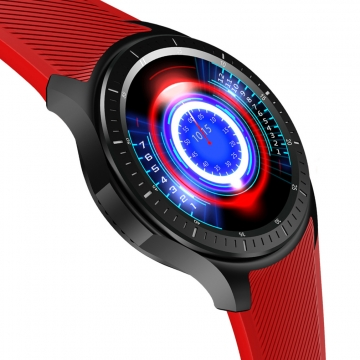 Intelligent Watch Full Circle Screen Andrews IOS General  WIFI GPS 4G Call Heart Rate Monitoring red one size
