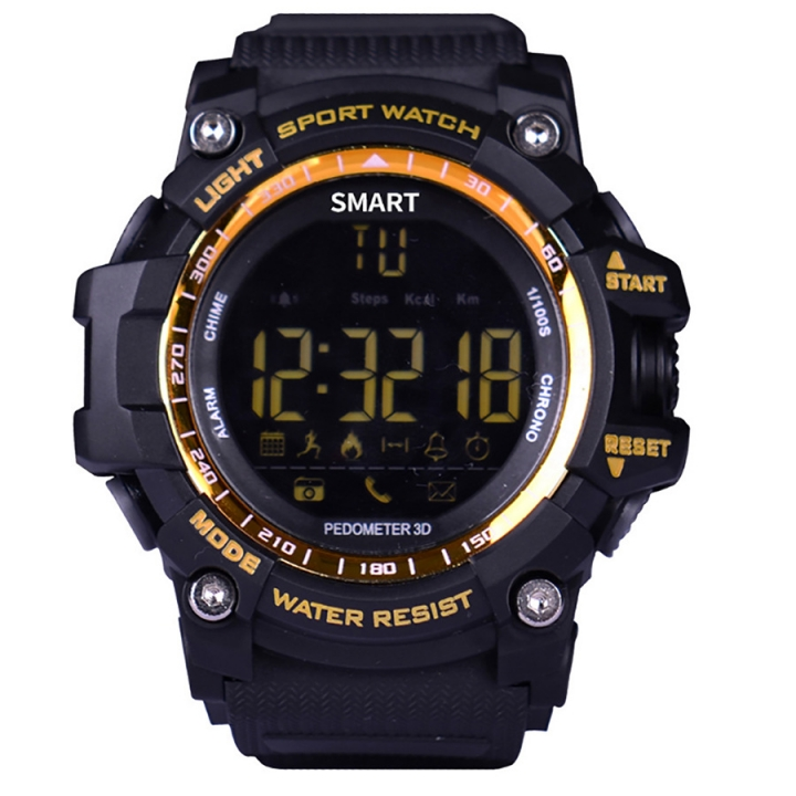 Intelligent Bluetooth Watch Outdoor Movement Depth Waterproof Remote Control Take Pictures orange one size