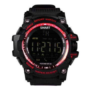 Intelligent Bluetooth Watch Outdoor Movement Depth Waterproof Remote Control Take Pictures red one size