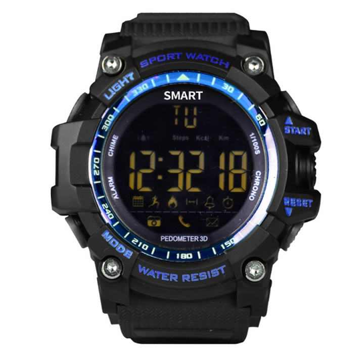 Intelligent Bluetooth Watch Outdoor Movement Depth Waterproof Remote Control Take Pictures blue one size