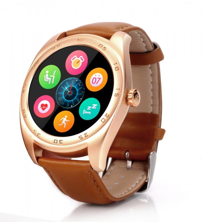 Intelligent Bluetooth Watch Heart rate Step Sleep monitor TF call intelligent Watch gold belt one size