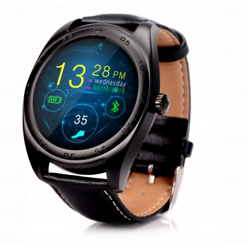 Intelligent Bluetooth Watch Heart rate Step Sleep monitor TF call intelligent Watch black  belt one size