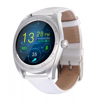 Intelligent Bluetooth Watch Heart rate Step Sleep monitor TF call intelligent Watch silver belt one size