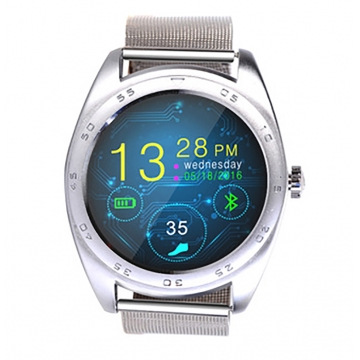 Intelligent Bluetooth Watch Heart rate Step Sleep monitor TF call intelligent Watch silver strip one size