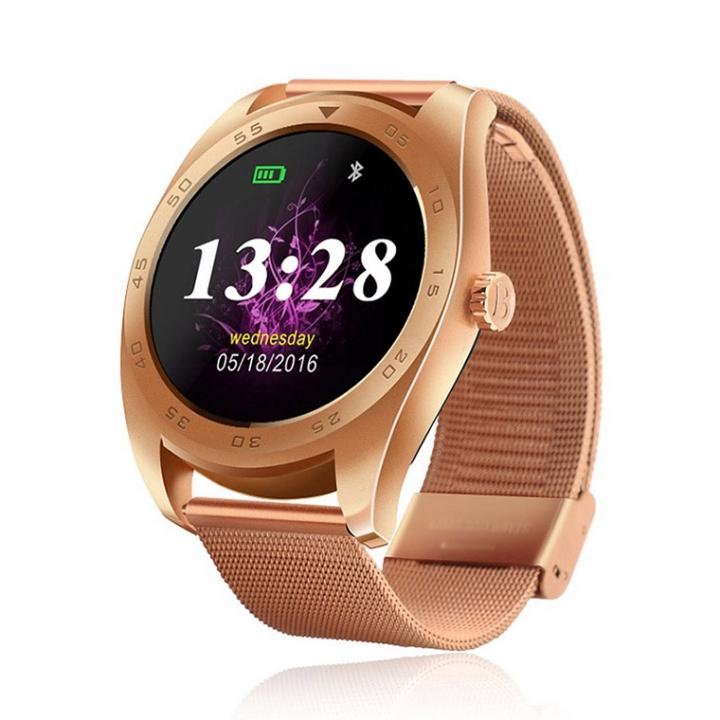 Intelligent Bluetooth Watch Heart rate Step Sleep monitor TF call intelligent Watch gold strip one size