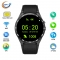 Intelligent Round screen Bluetooth Watch Step Heart rate Positioning HD screen wristband black one size