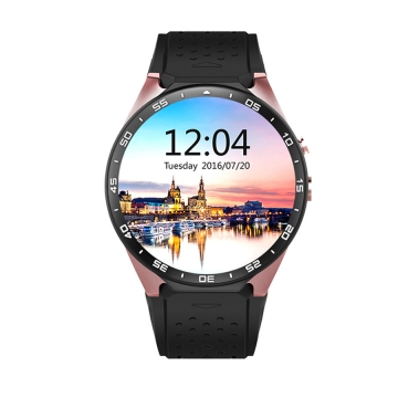 Intelligent Round screen Bluetooth Watch Step Heart rate Positioning HD screen wristband gold one size
