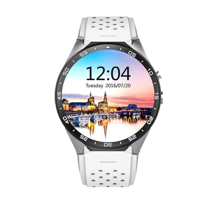 Intelligent Round screen Bluetooth Watch Step Heart rate Positioning HD screen wristband white one size