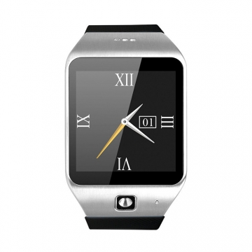 Intelligent Step Heart Rate Card Bluetooth Watch Stand By SIM TF NFC Features silver one size