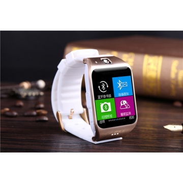 Intelligent Step Heart Rate Card Bluetooth Watch Stand By SIM TF NFC Features white gold one size