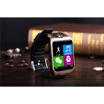 Intelligent Step Heart Rate Card Bluetooth Watch Stand By SIM TF NFC Features black gold one size