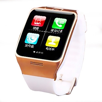 Positioning Intelligent Bluetooth Watch Two-way Call Dual Frequency Step Fashion Watch white gold one size