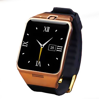 Positioning Intelligent Bluetooth Watch Two-way Call Dual Frequency Step Fashion Watch black gold one size