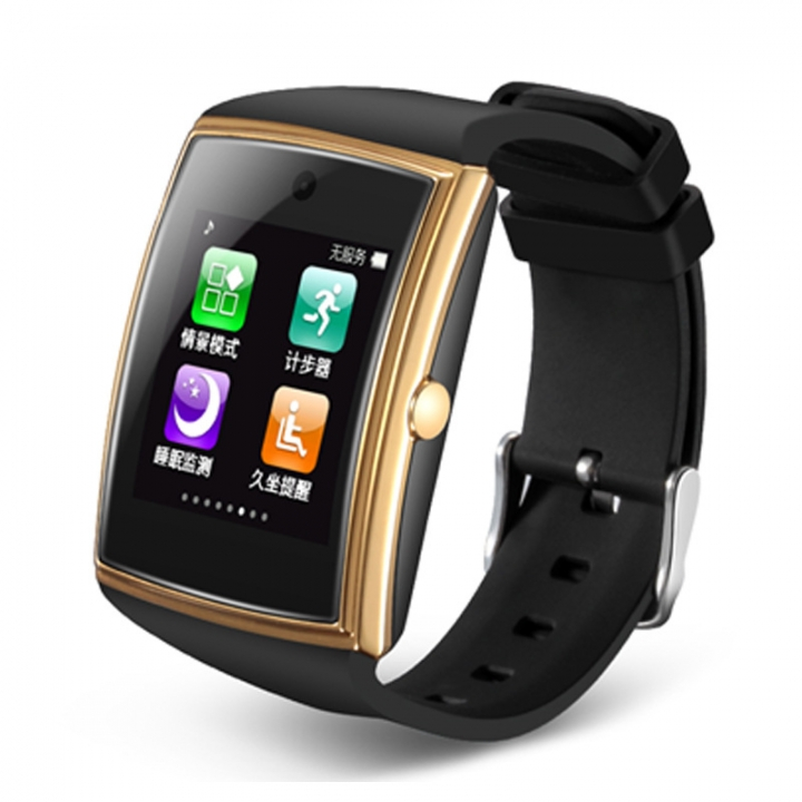 Card Intelligent Bluetooth Watch Oversized Full Touch HD Screen 3D Surface Design gold one size
