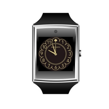 Card Intelligent Bluetooth Watch Oversized Full Touch HD Screen 3D Surface Design silver one size