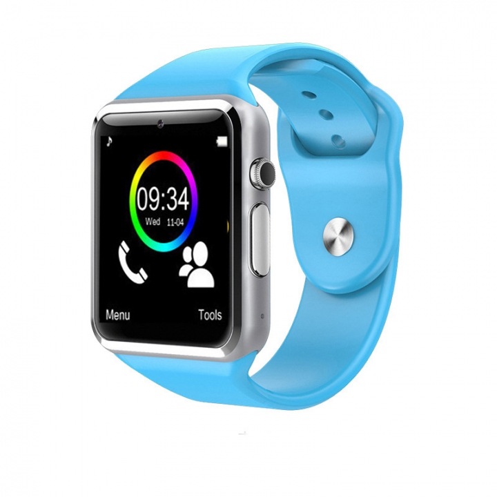 Intelligent Bluetooth Watch NFC TF Take pictures Card Step Sleep sleep wristband blue one size