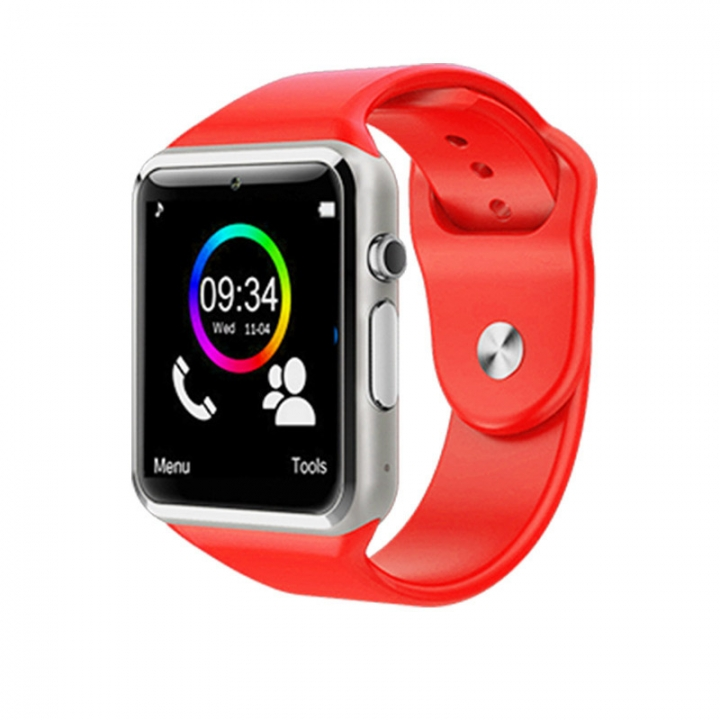 Intelligent Bluetooth Watch NFC TF Take pictures Card Step Sleep sleep wristband red one size
