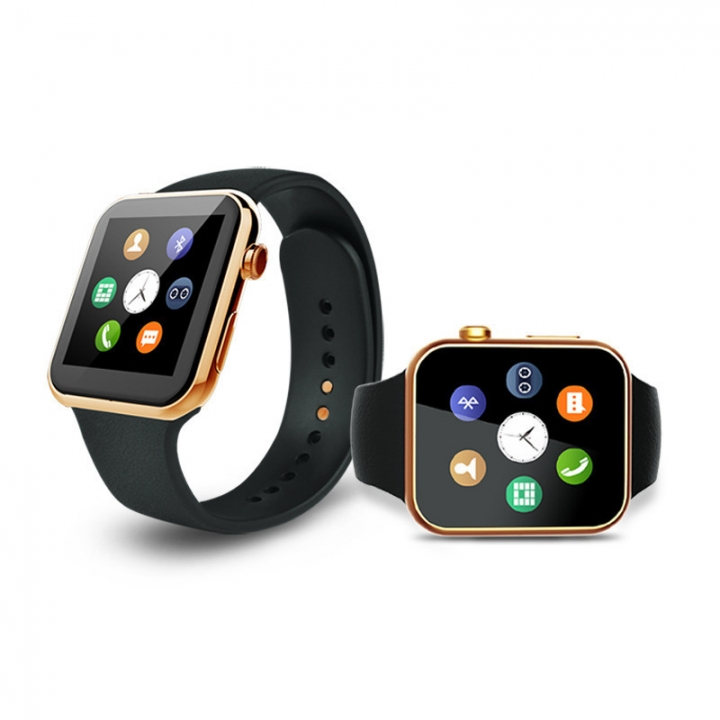 Intelligent Watch  Heart rate test Synchronize Take pictures intelligent Bluetooth phone Watch gold one size