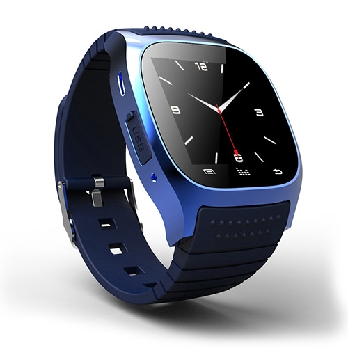 Intelligent Bluetooth Watch  compatible Dual system Step Heart rate Multifunction wristband blue one size