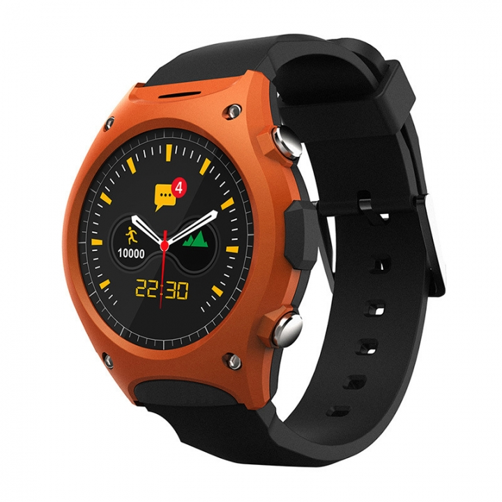 Intelligent Watch Step Heart Rate Test Altitude Air Pressure Compatible Ios Andrews Wristband orange one size