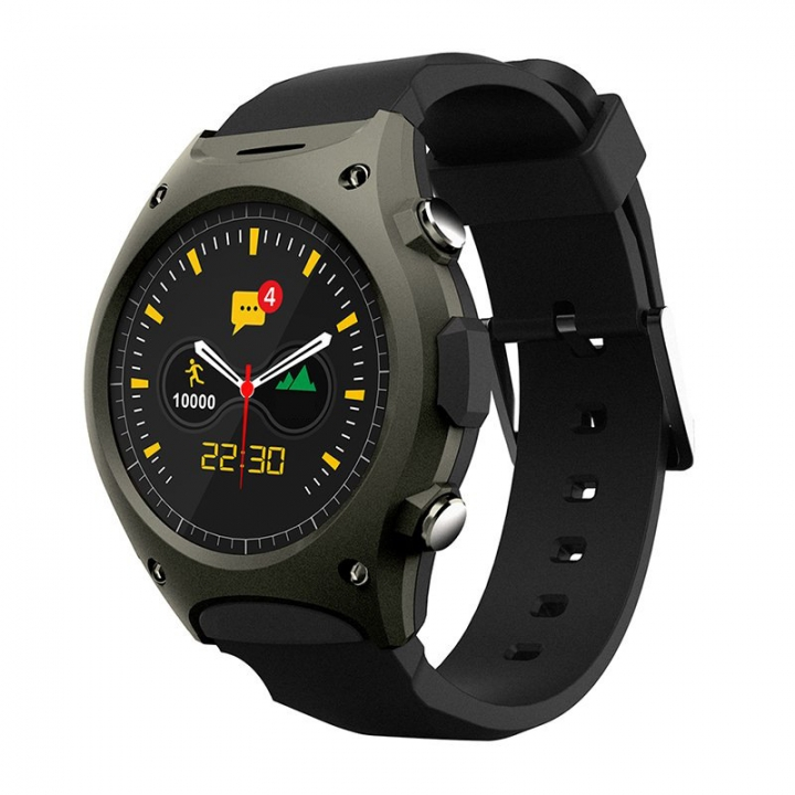 Intelligent Watch Step Heart Rate Test Altitude Air Pressure Compatible Ios Andrews Wristband green one size