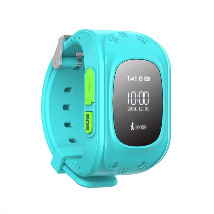 Child intelligent Watch  GPS Multiple Positioning Two-way call One key for help wristband blue one size