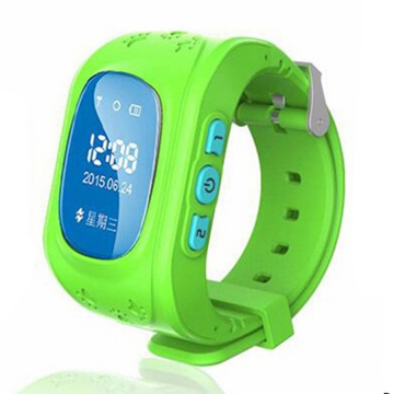 Child intelligent Watch  GPS Multiple Positioning Two-way call One key for help wristband green one size