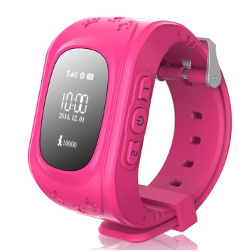 Child intelligent Watch  GPS Multiple Positioning Two-way call One key for help wristband pink one size