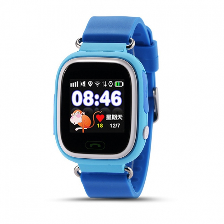Intelligent child phone Watch Color screen Touch screen GPS Positioning WIFI child wristband blue one size