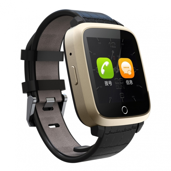 Intelligent  Bluetooth Waterproof Watch  GPS Heart Rate Step  WIFI Positioning  Watch gold one size