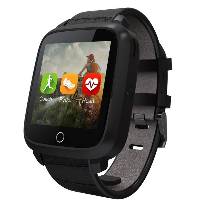 Intelligent  Bluetooth Waterproof Watch GPS Heart Rate Step WIFI Positioning Watch black one size
