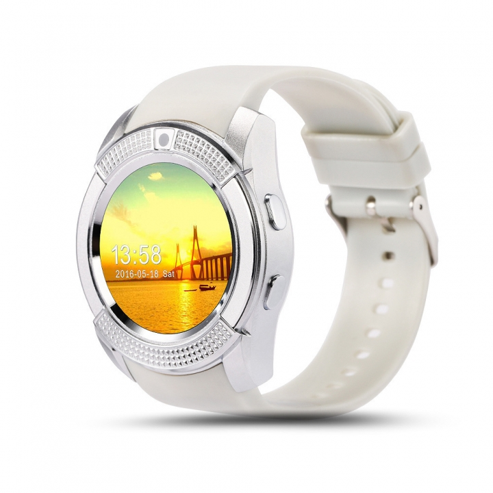 Full Disc Intelligent Watch IPS Screen Adult RD Phone Movement Watch Mobile Phone white one size