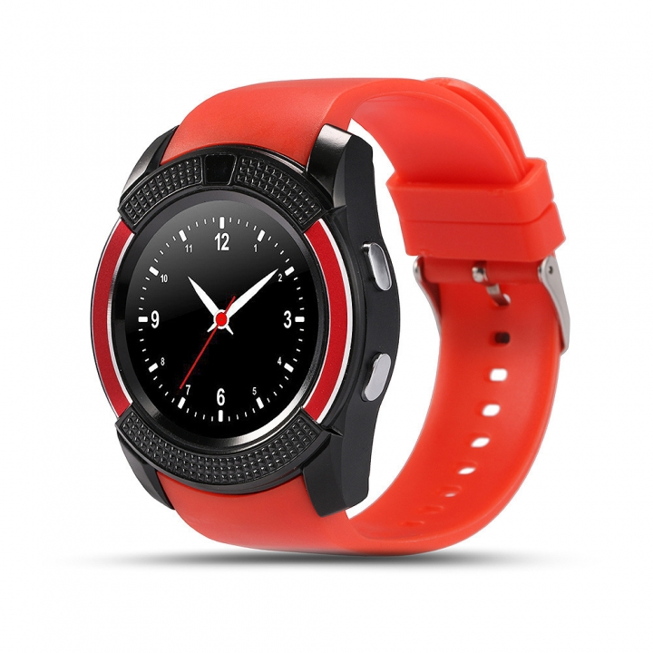 Full Disc Intelligent Watch IPS Screen Adult RD Phone Movement Watch Mobile Phone red one size