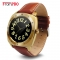 Full Circle Screen Intelligent Watch Bluetooth Call Take Pictures Call Card Touch Screen Watch gold one size