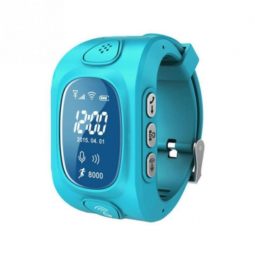 Child Positioning Bluetooth Watch GPS base station WiFi triple intelligent Positioning child Watch blue one size