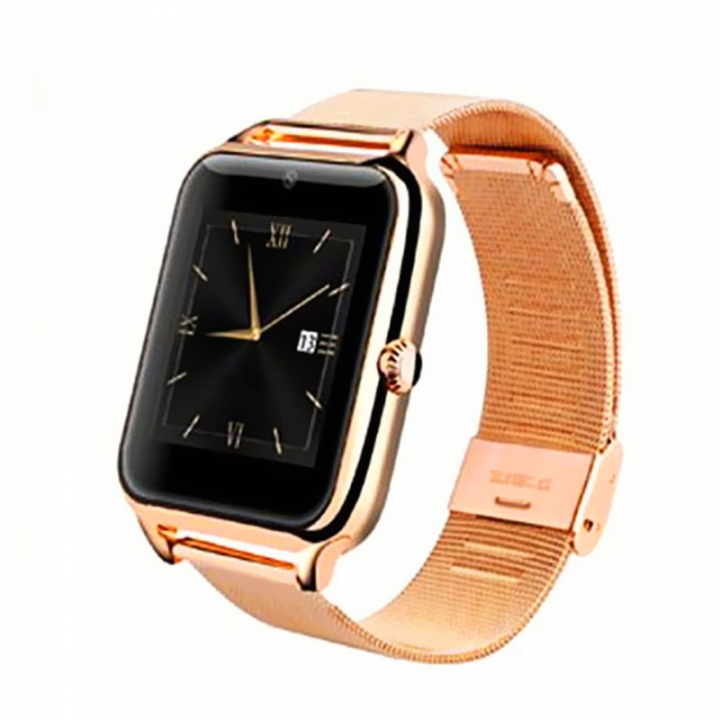 Bluetooth intelligent Watch Full view IPS screen All metal Straps Support SIM card call gold one size