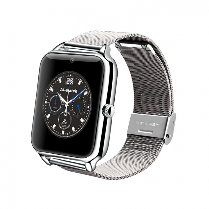 Bluetooth intelligent Watch Full view IPS screen All metal Straps Support SIM card call silver one size