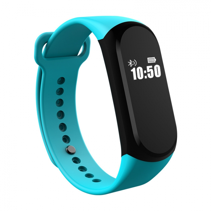 Bluetooth Intelligent Waterproof Wristband Stand By Heart Rate Step Movement green one size