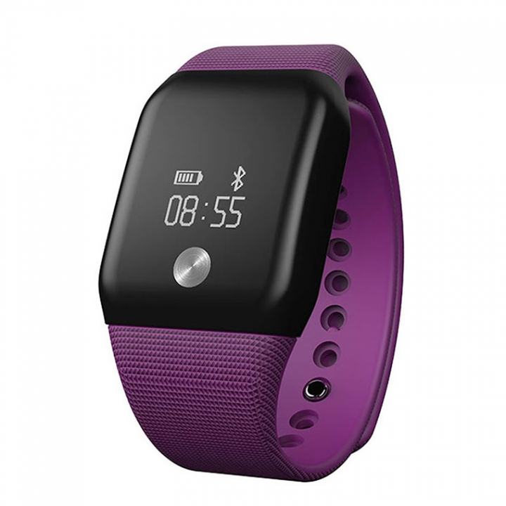 Intelligent Wristband Blood Pressure Blood Oxygen Heart Rate Touch Screen Call Remind Intelligent purple one size