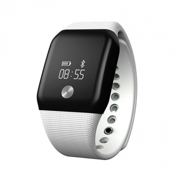 Intelligent Wristband Blood Pressure Blood Oxygen Heart Rate Touch Screen Call Remind Intelligent white one size