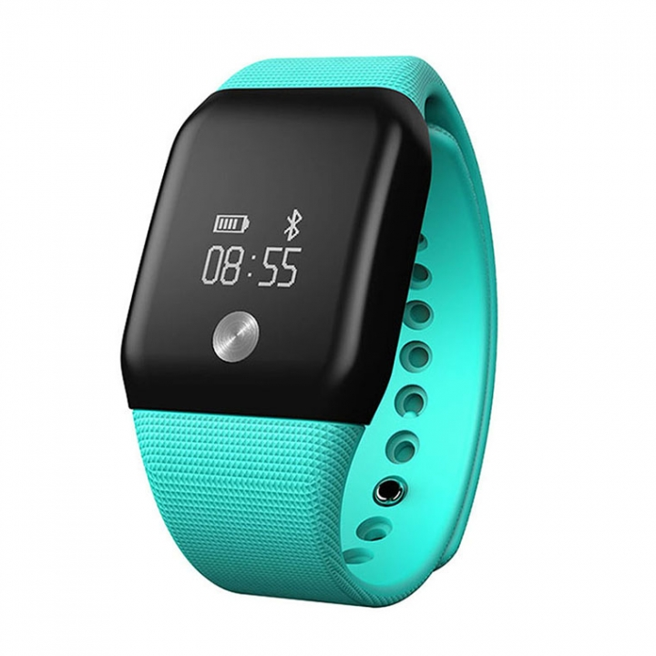 Intelligent Wristband Blood Pressure Blood Oxygen Heart Rate Touch Screen Call Remind Intelligent green one size