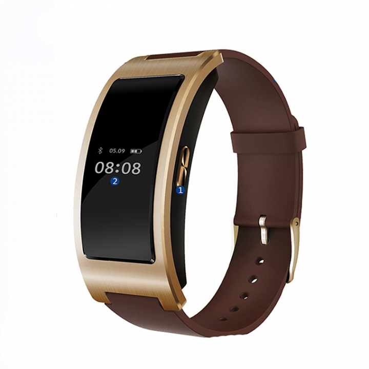 Intelligent Bluetooth Wristband Heart Rate Blood Pressure Sleep Monitor Step Calories Watch gold one size