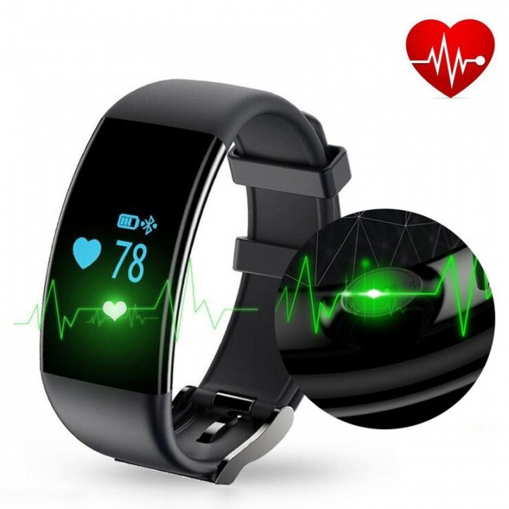 Heart rate Monitor Movement Wristband Touch SCcreen Movement Step Bluetooth Intelligent Wristband... black one size