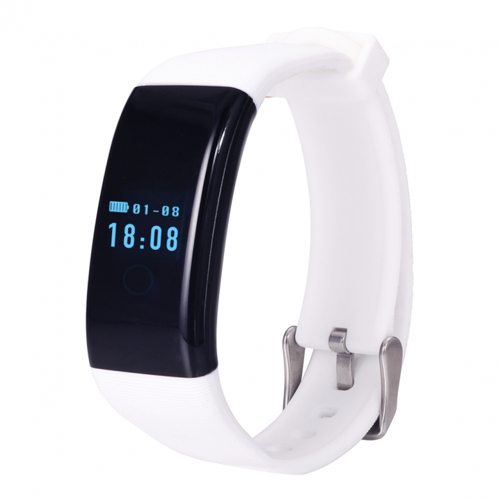 Heart rate Monitor Movement Wristband Touch SCcreen Movement Step Bluetooth Intelligent Wristband... white one size