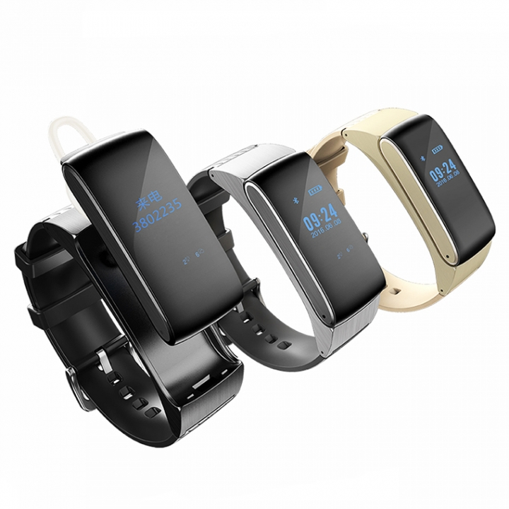 Intelligent Wear Wristband Health Monitor Bluetooth Call Movement Step Wristband silver one size